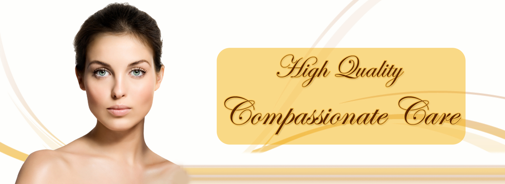 picture of a lady with a beautiful skin showing high quality compassionate care